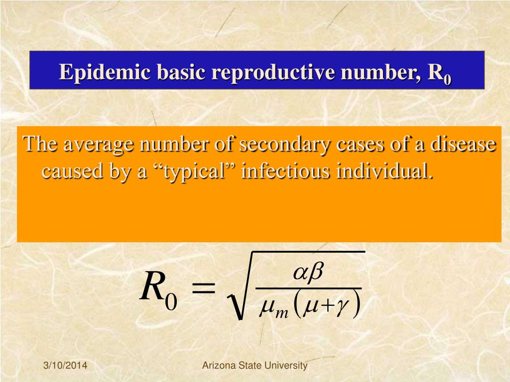 Epidemic basic reproductive number,
