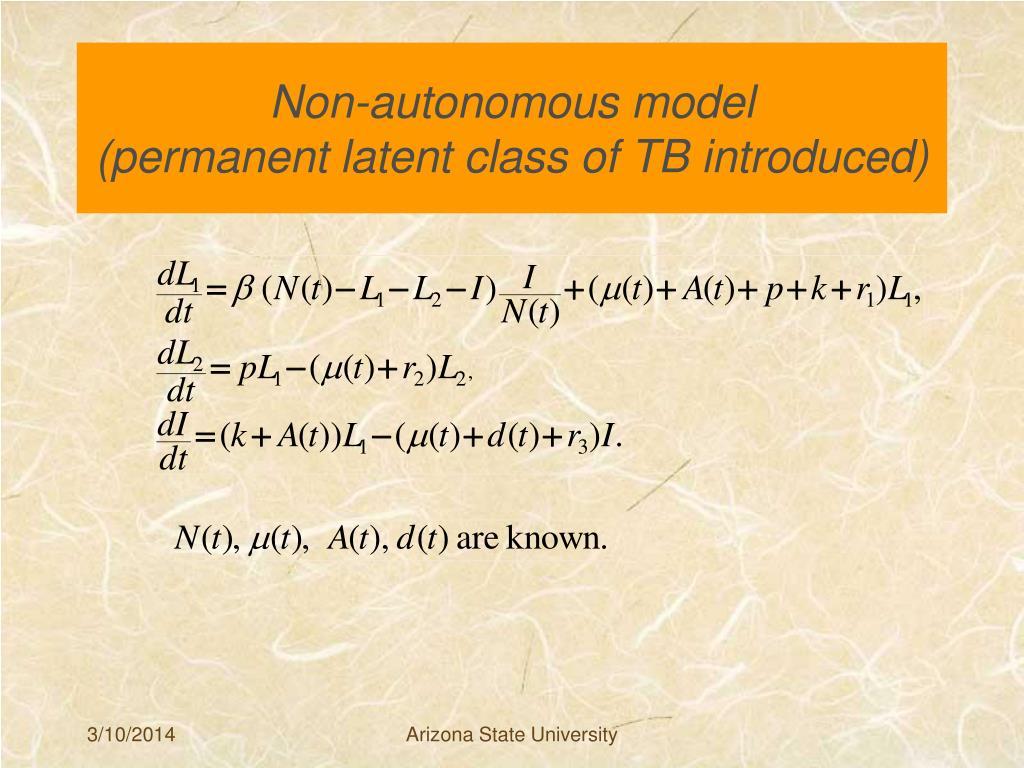Non-autonomous model