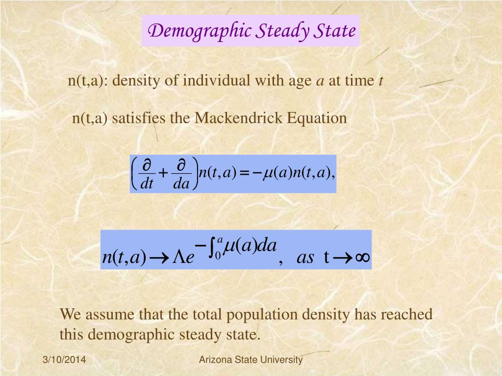 Demographic Steady State