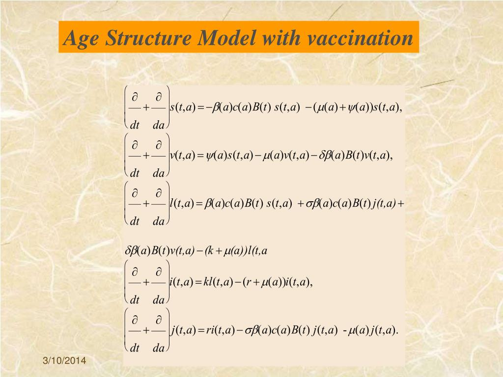 Age Structure Model with vaccination