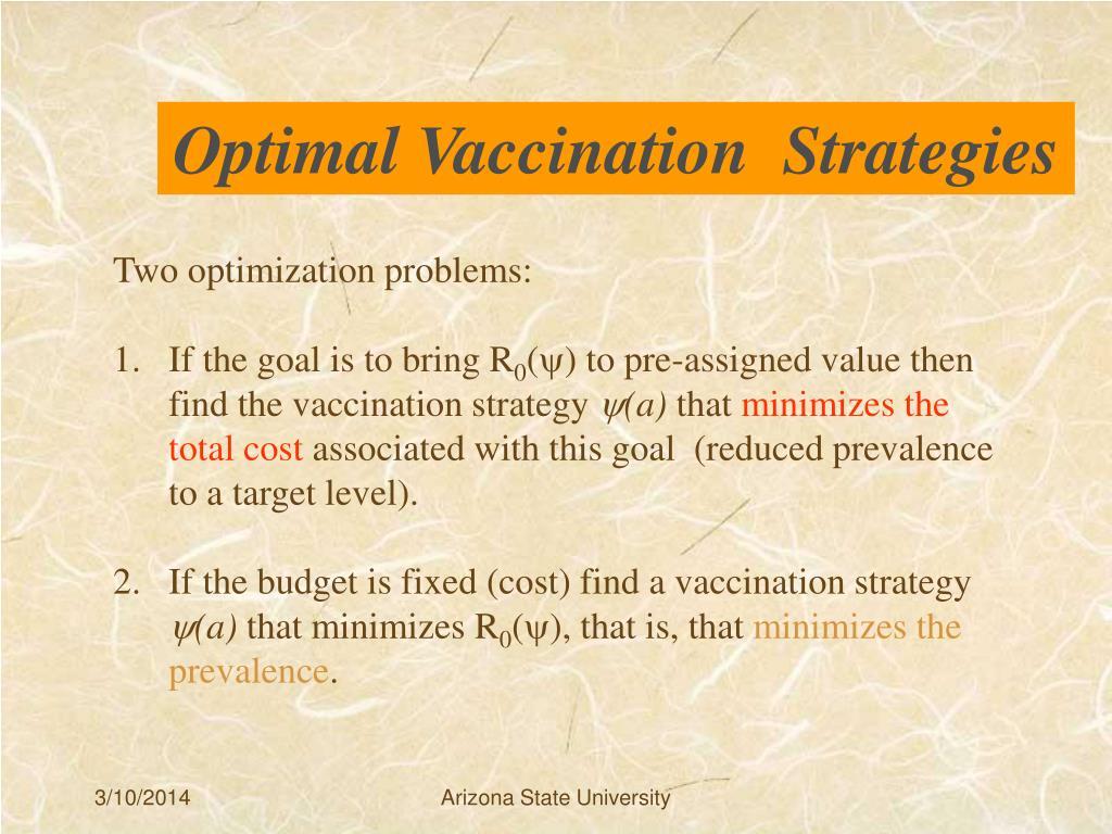 Optimal Vaccination  Strategies