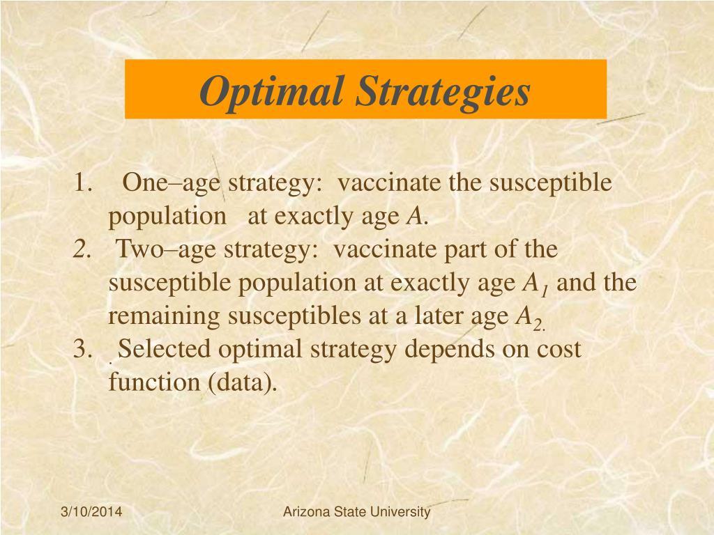 Optimal Strategies