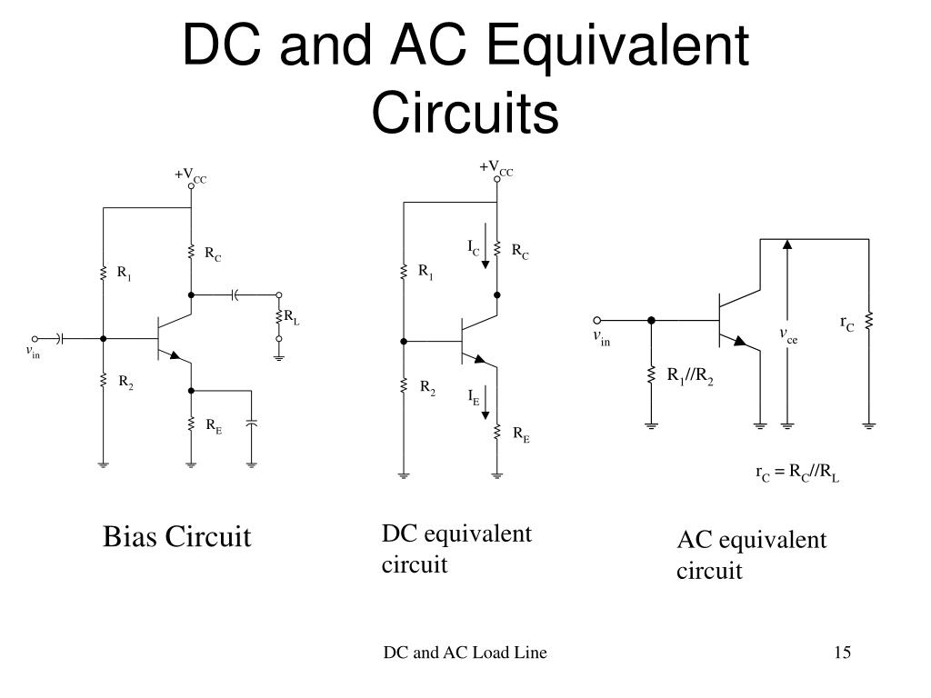 DC and AC Equivalent Circuits