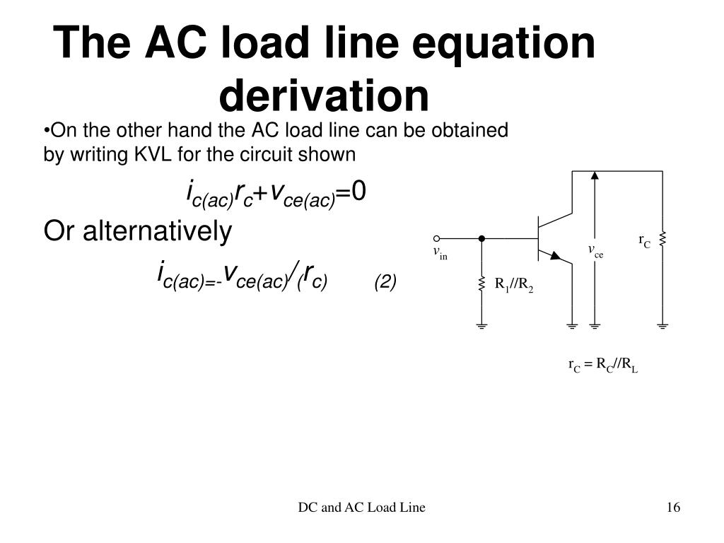 The AC load line equation derivation