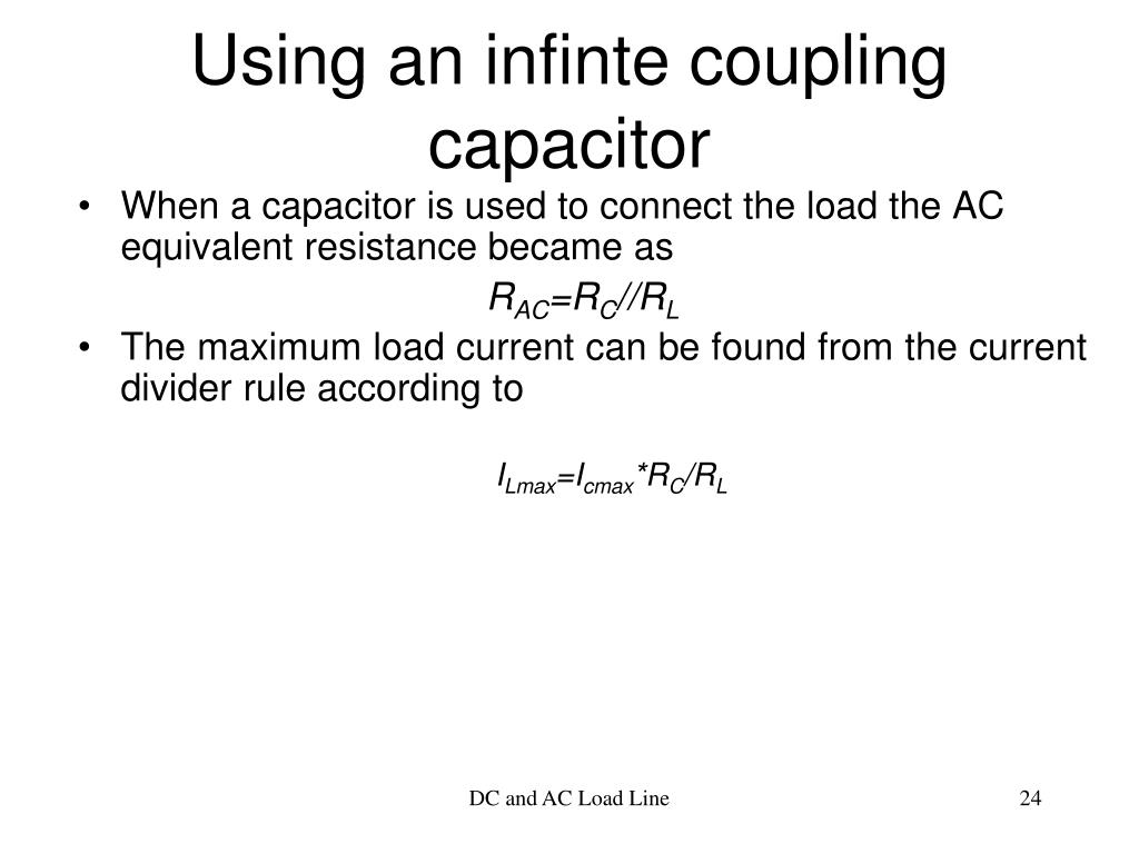 Using an infinte coupling capacitor