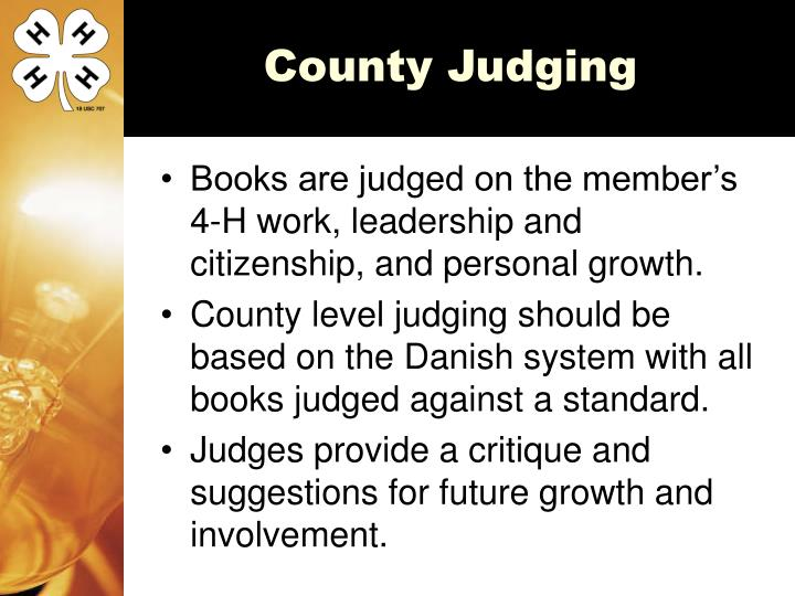 County Judging