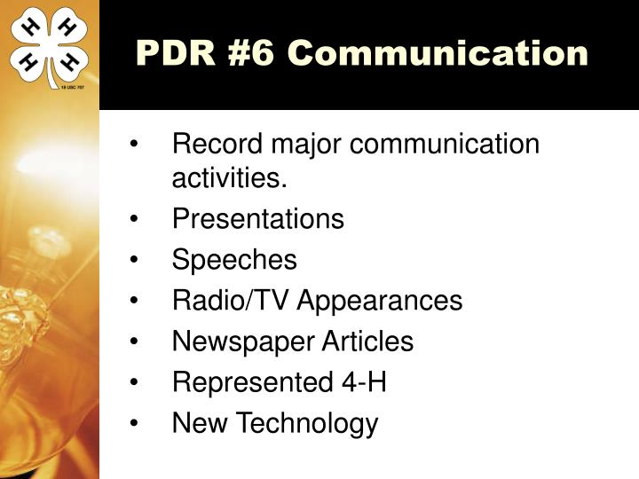 PDR #6 Communication