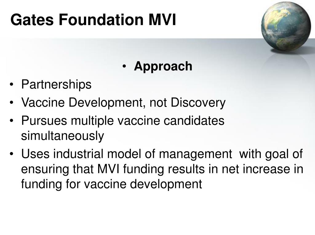 Gates Foundation MVI