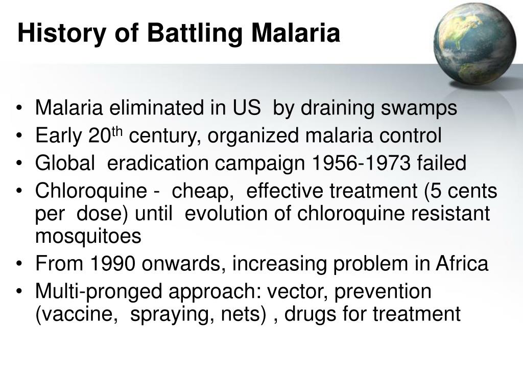 History of Battling Malaria