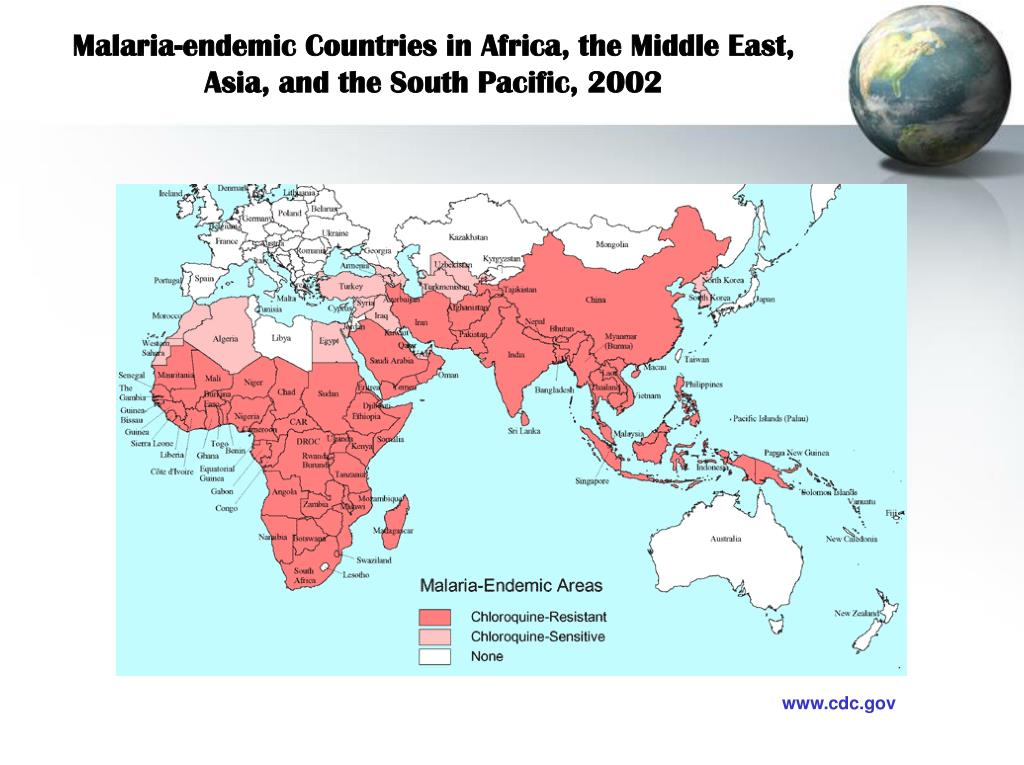 Malaria-endemic Countries in Africa, the Middle East,