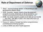 role of department of defense