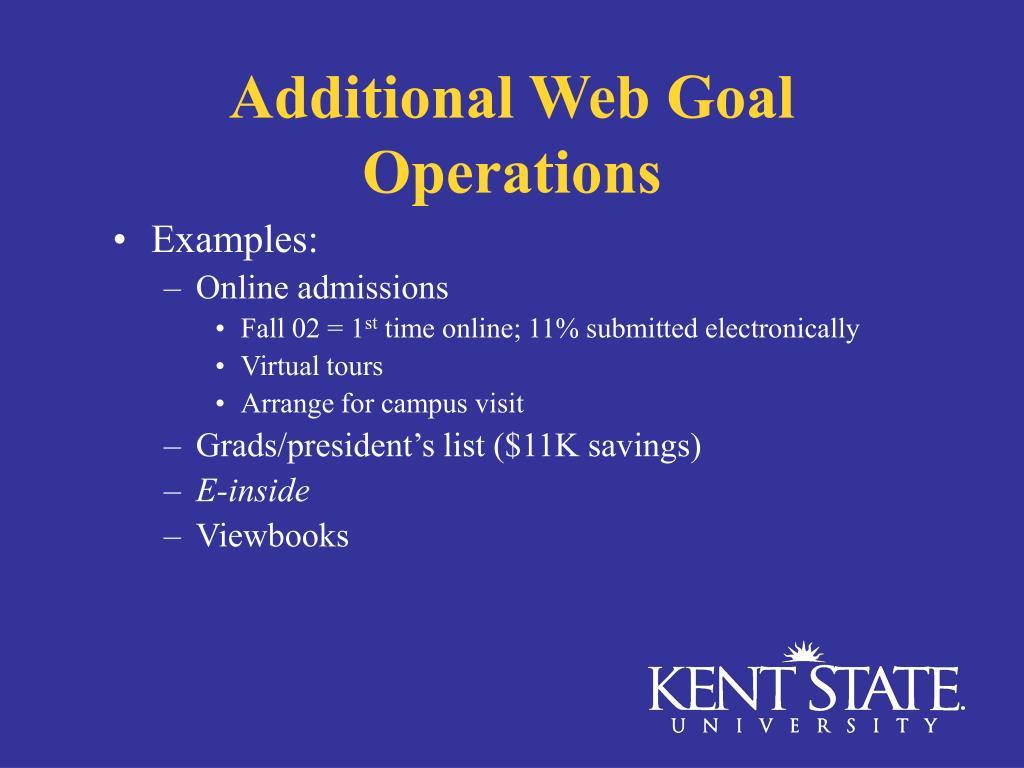 Additional Web Goal Operations