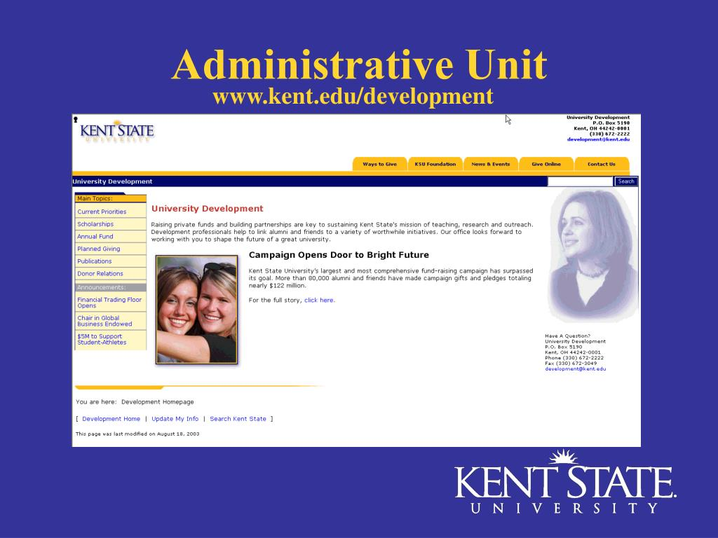 www.kent.edu/development