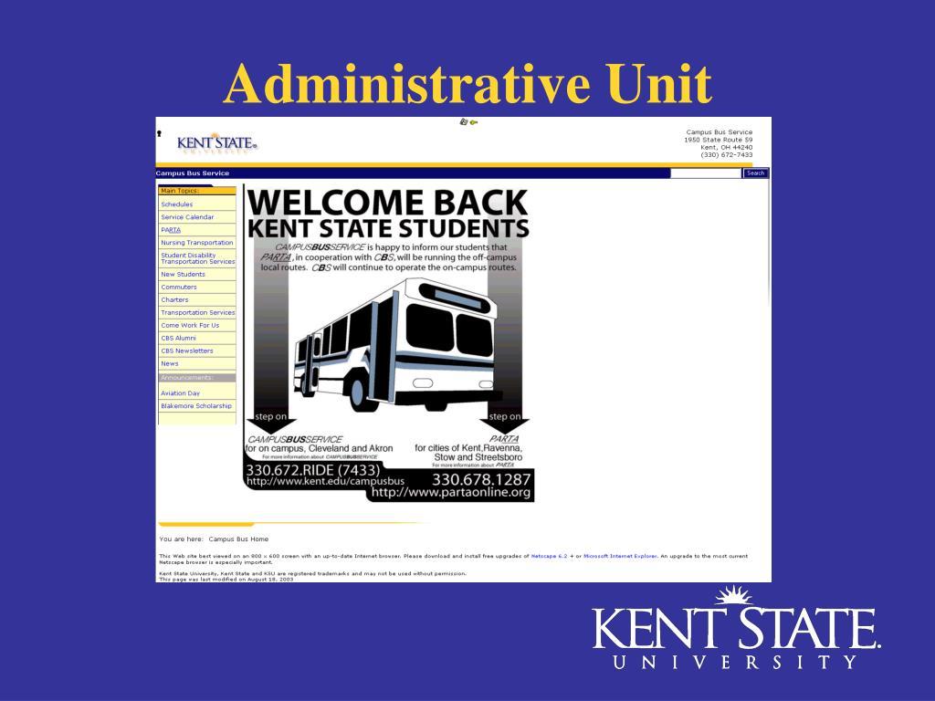 Administrative Unit