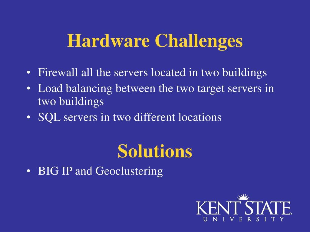 Hardware Challenges