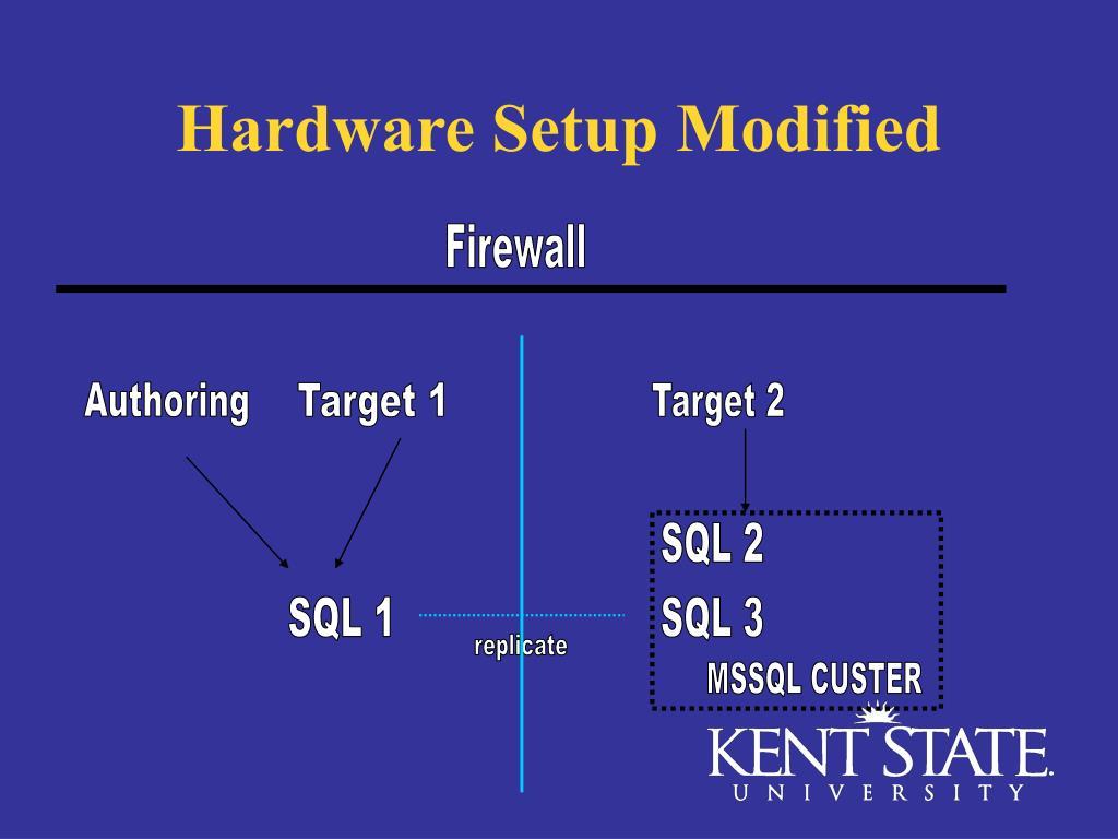 Hardware Setup Modified