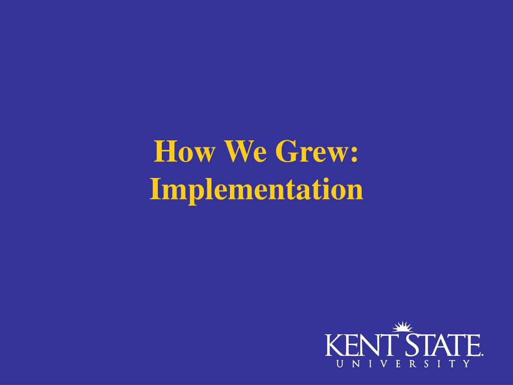 How We Grew: Implementation