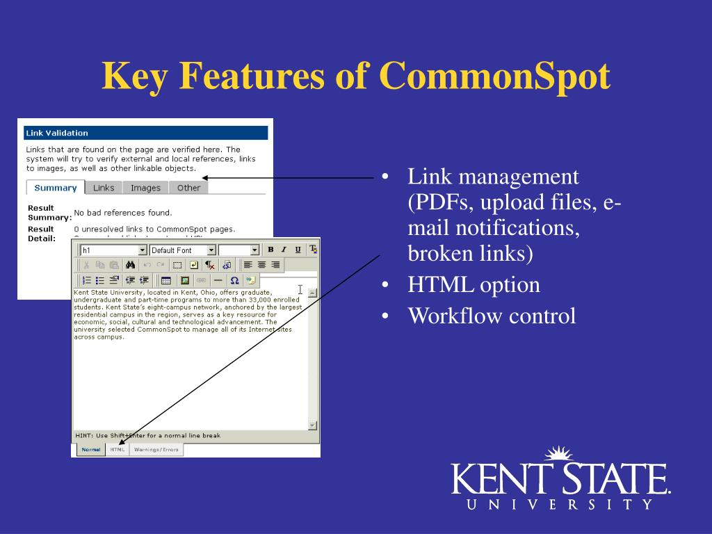 Key Features of CommonSpot