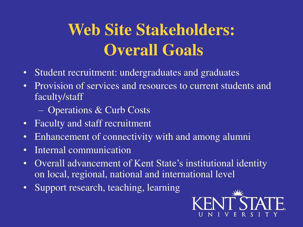 Web Site Stakeholders: