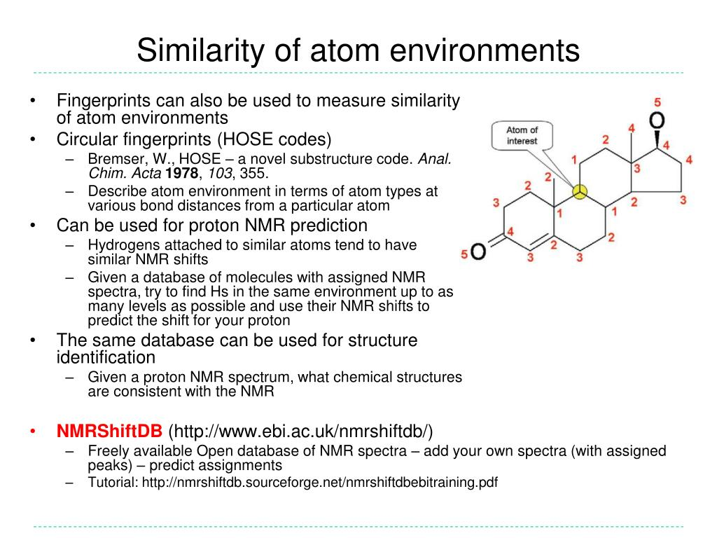 Similarity of atom environments