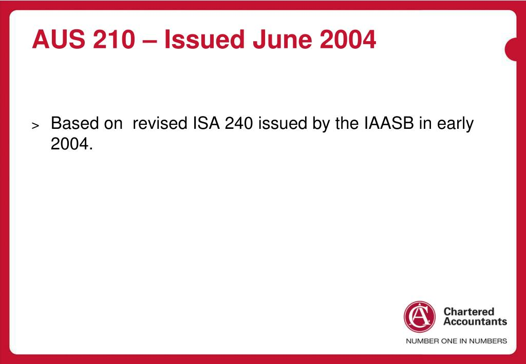 AUS 210 – Issued June 2004