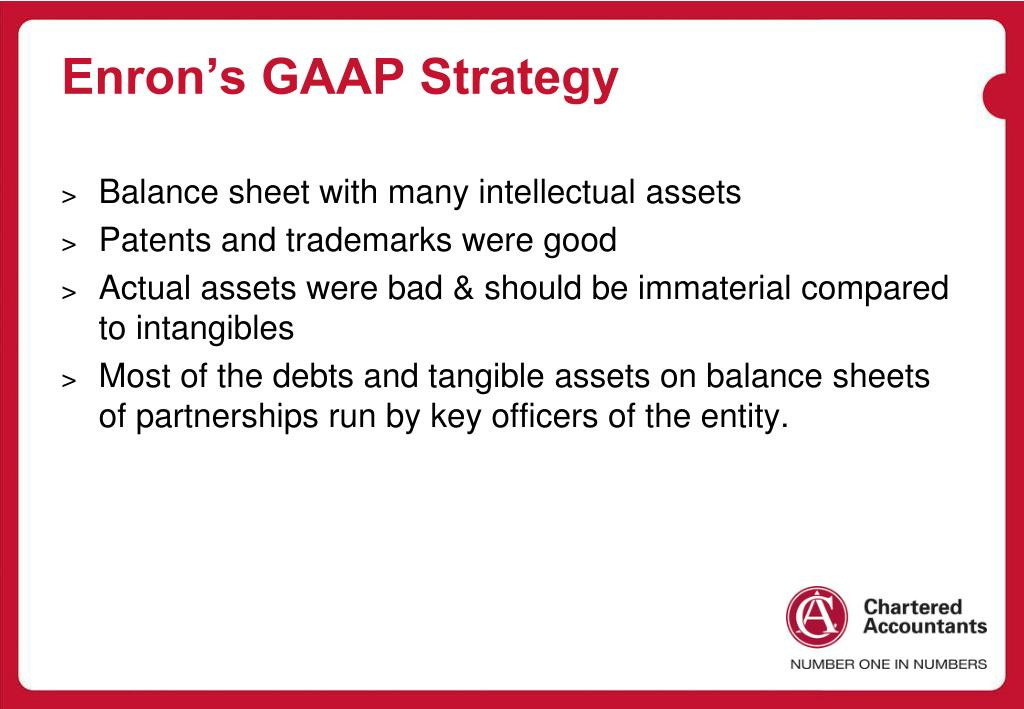 Enron's GAAP Strategy