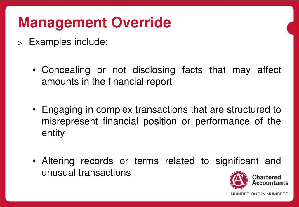 Management Override