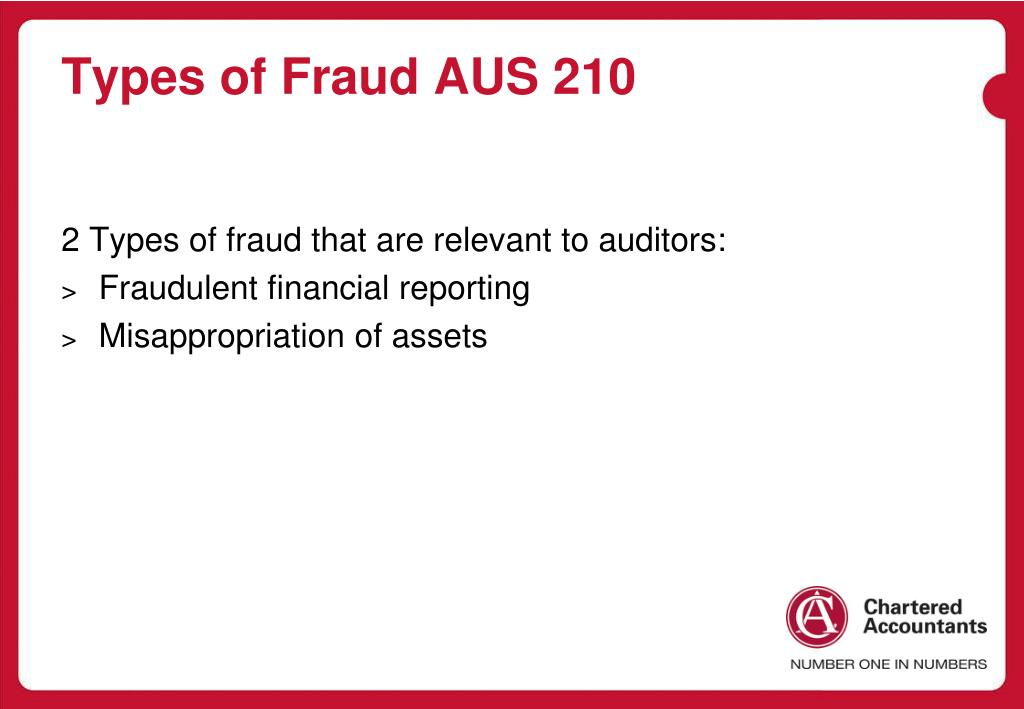 Types of Fraud AUS 210