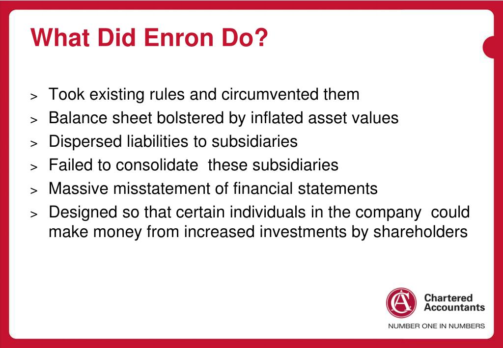 What Did Enron Do?