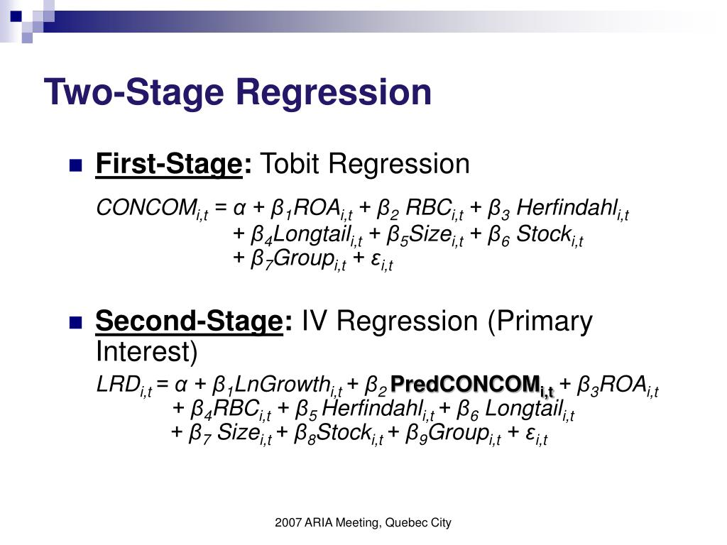 Two-Stage Regression