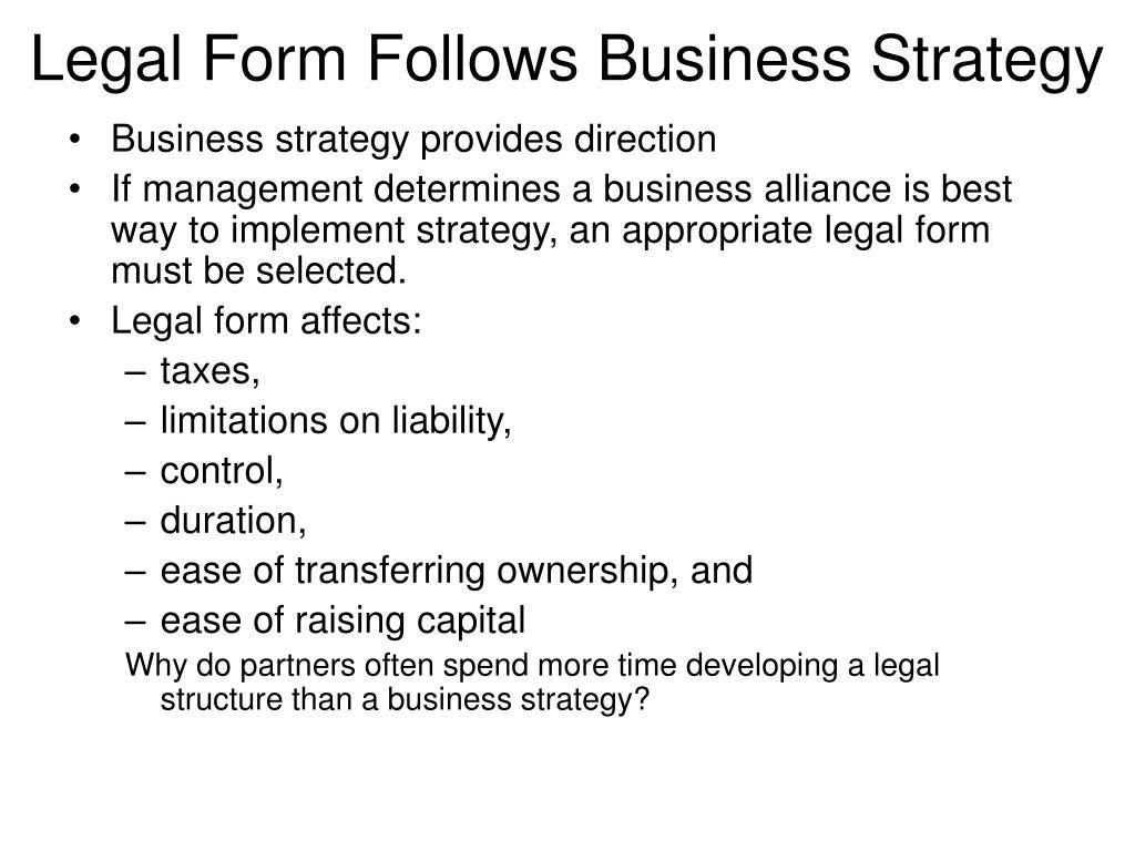 Unique formation of business