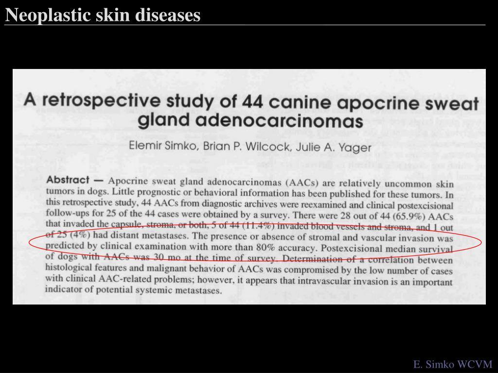 Neoplastic skin diseases