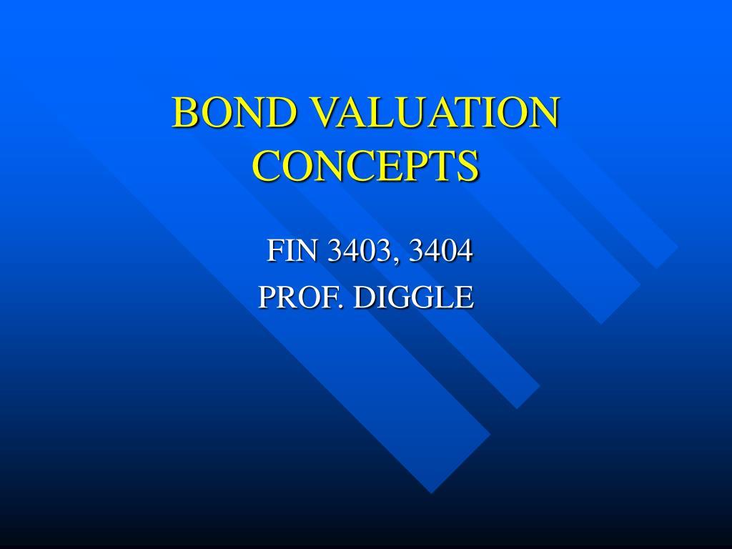 BOND VALUATION CONCEPTS