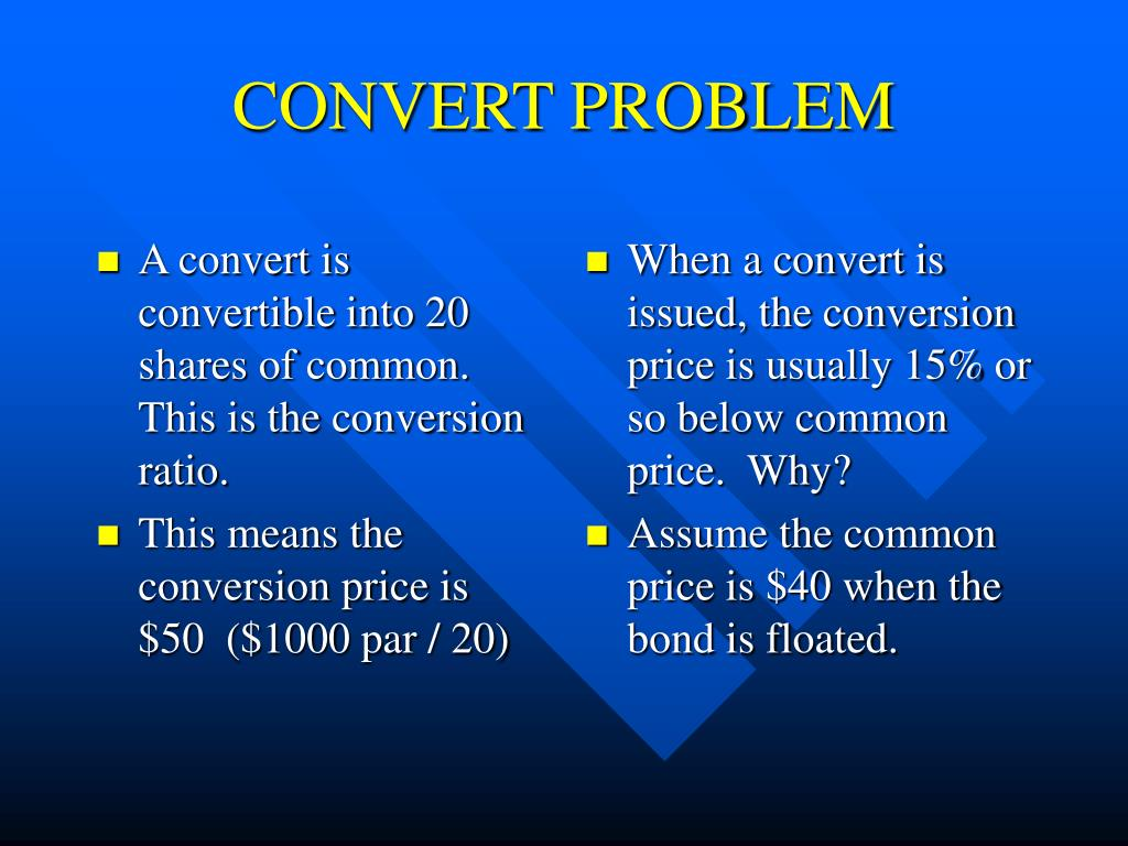 A convert is convertible into 20 shares of common.  This is the conversion ratio.