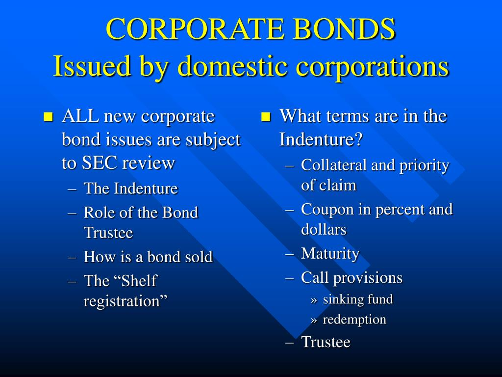 ALL new corporate bond issues are subject to SEC review