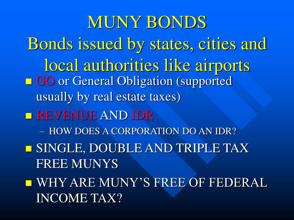 MUNY BONDS