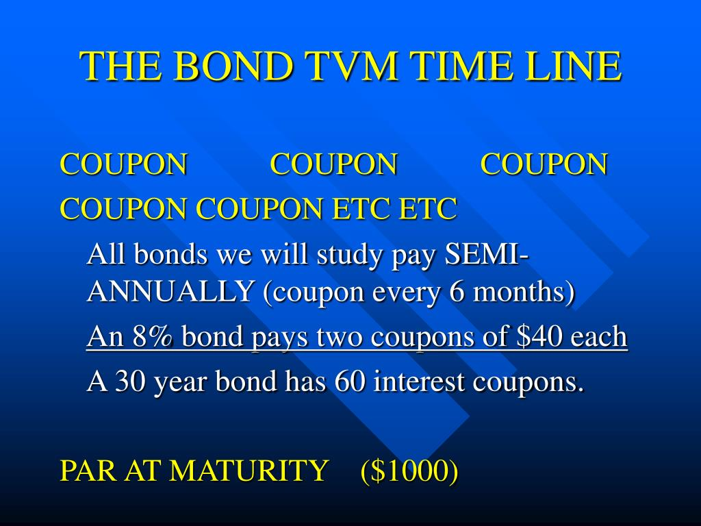THE BOND TVM TIME LINE