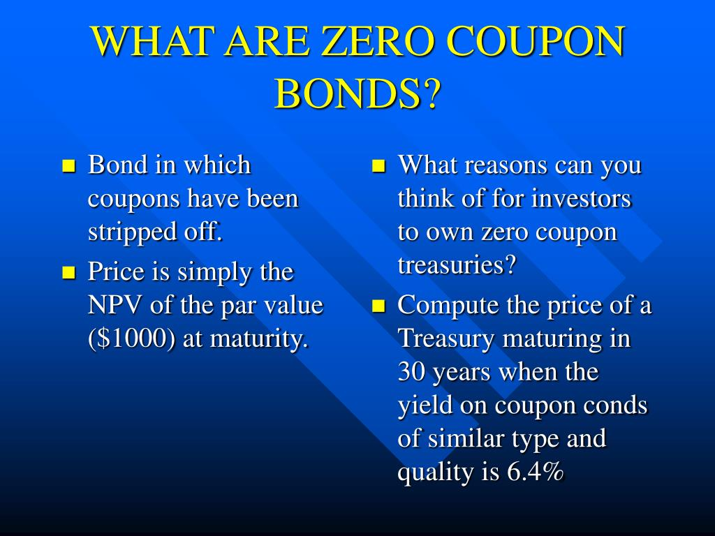 Bond in which coupons have been stripped off.