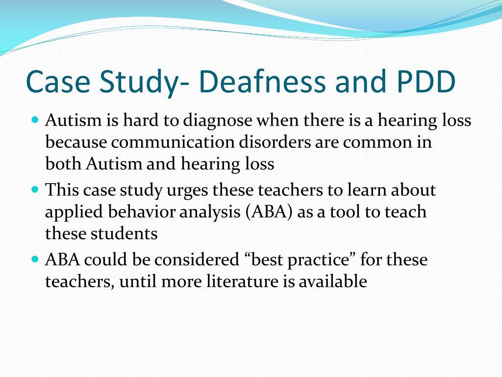 Autism case study powerpoint