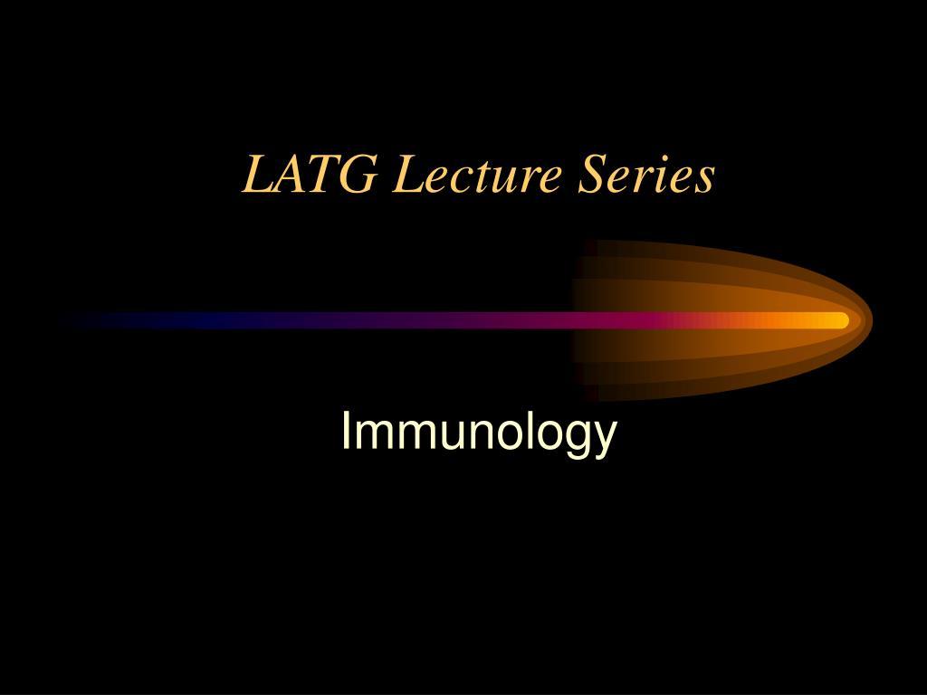 LATG Lecture Series