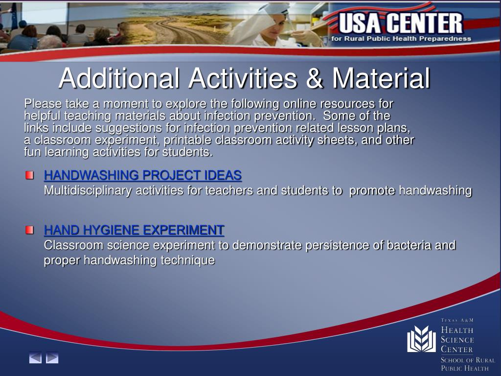 Additional Activities & Material