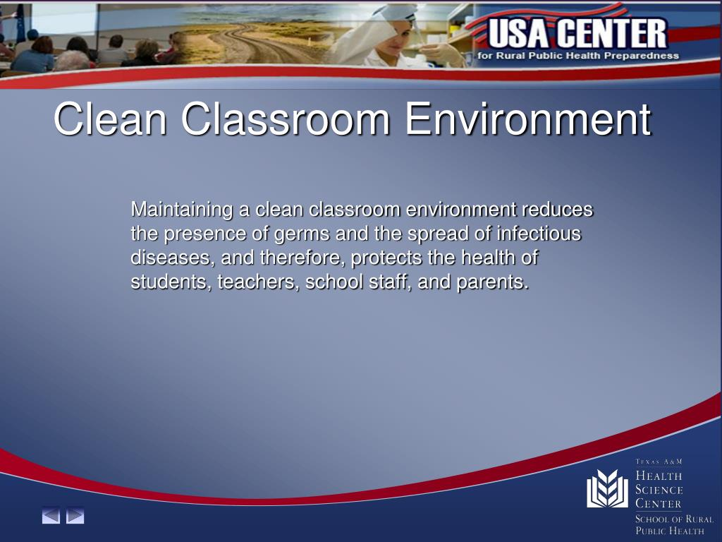 Clean Classroom Environment