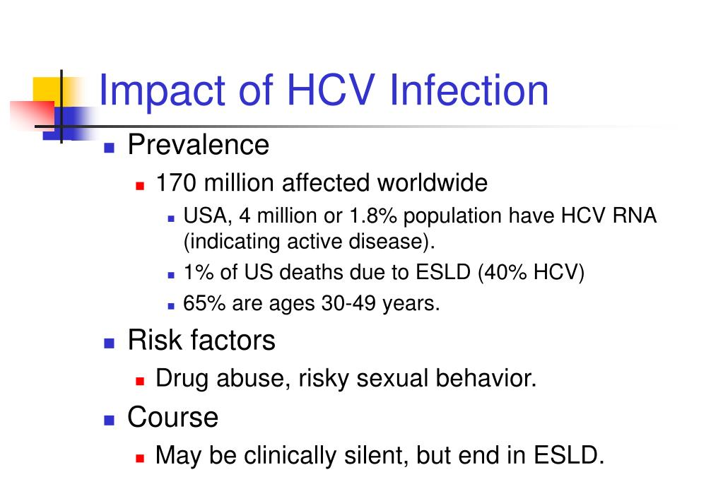 Impact of HCV Infection