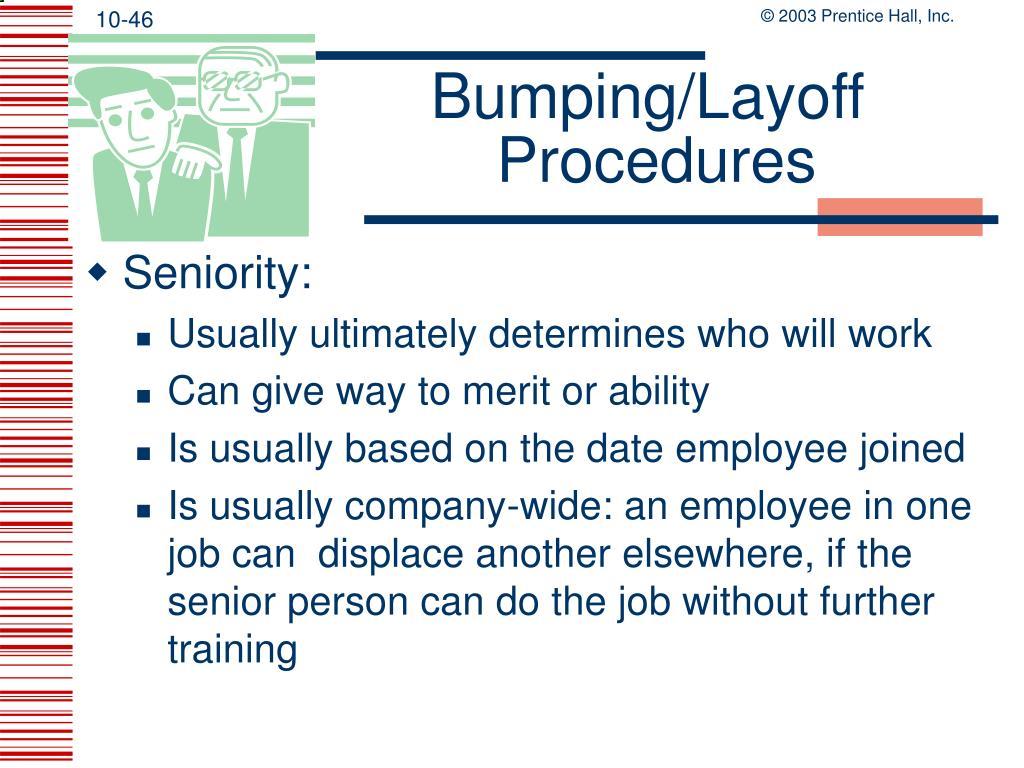 Bumping/Layoff