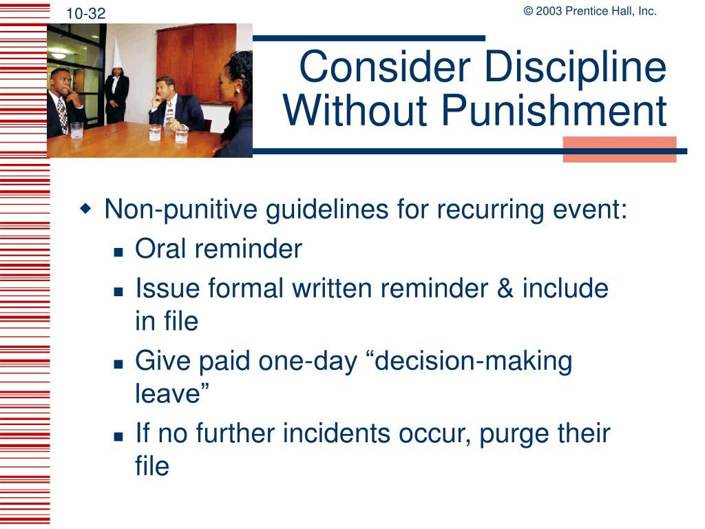 Consider Discipline