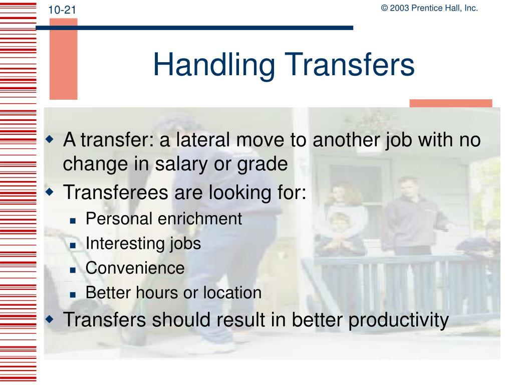 Handling Transfers