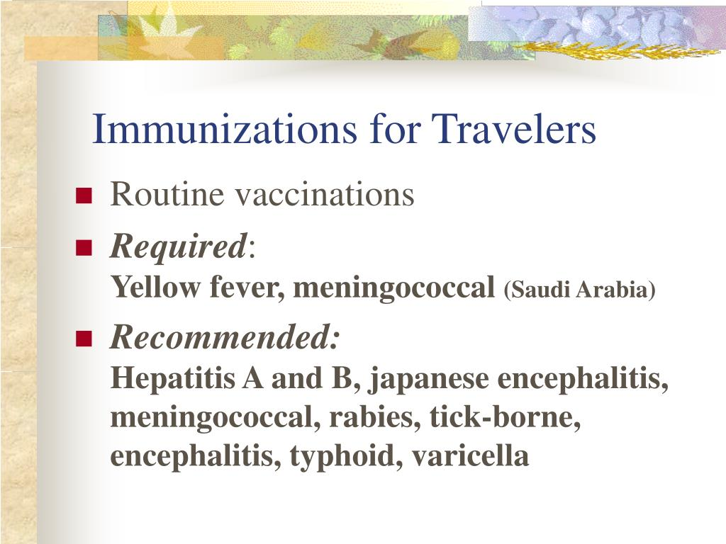 Immunizations for Travelers