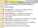 imported diseases surveillance networks