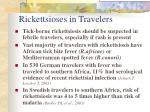 rickettsioses in travelers
