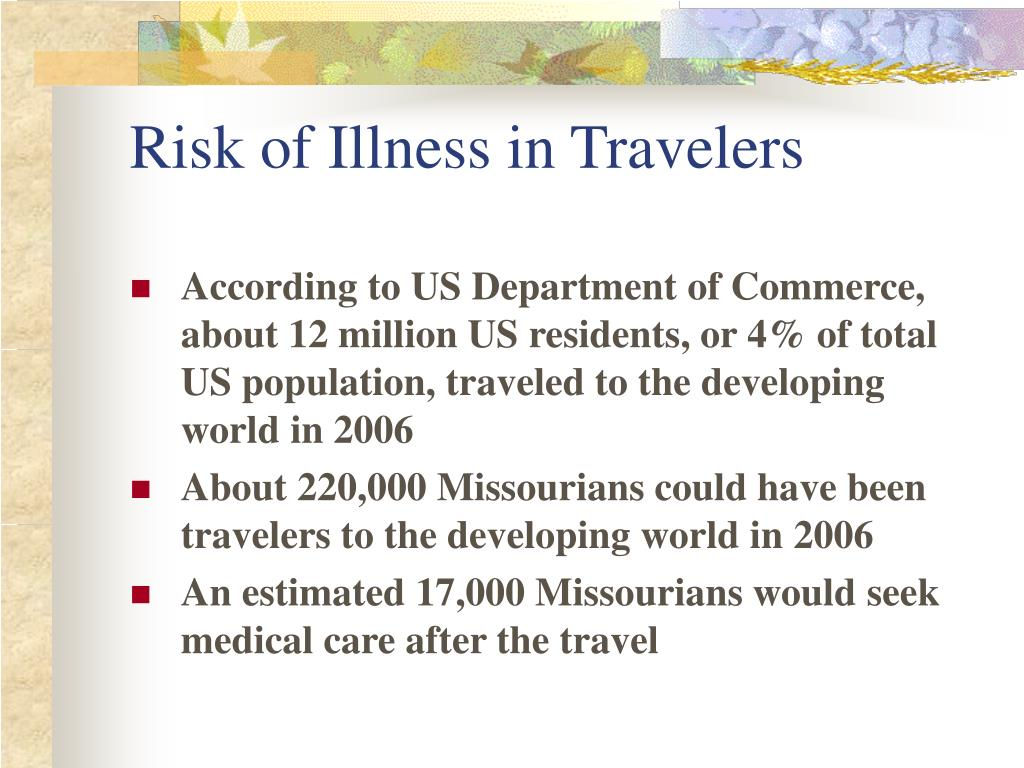 Risk of Illness in Travelers